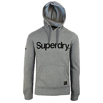 Superdry men's grey grit military graphic hood