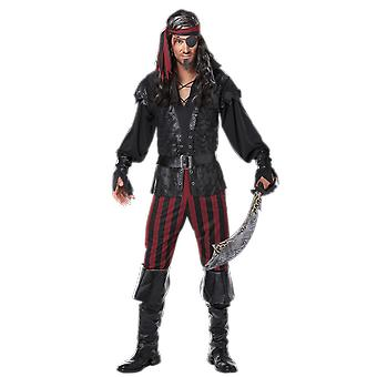 Mens Ruthless Rogue Pirate Sea Captain Fancy Dress Costume
