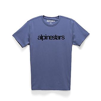 Alpinestars Men's T-Shirt ~ Heritage Word blue