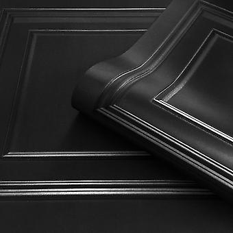 Black Amara Panel Wallpaper