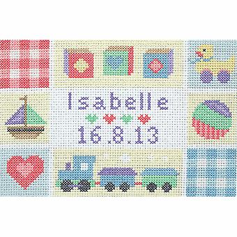 Anchor Counted Cross Stitch Kit: Birth Record: Baby