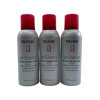 Rusk W8less Spray Gel Firm Hold 5.3 OZ Set of 3