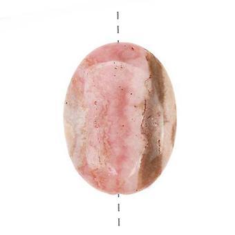 Medium Roze Rhodochrosiet Ovale Hanger Kraal 22 x 30mm (1)