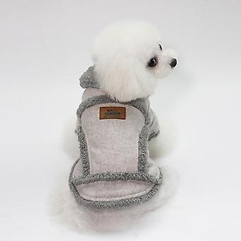 Dog cat clothes autumn and winter thickening jacket small and medium-sized dogs