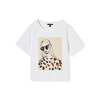 ESPRIT 040eo1k315 T-Shirt, 100/White, S Woman