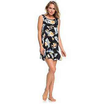 Roxy All About The Sea Dress in Anthracite Tropical Love