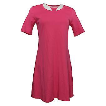 Isaac Mizrahi En direct! Petite Robe Pima Coton Coude-Manche Rose A351508