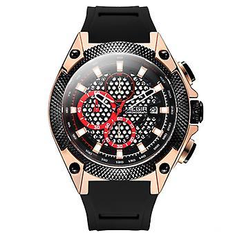 Men fashion sports waterproof quartz watch