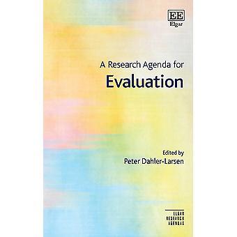 A Research Agenda for Evaluation Elgar Research Agendas