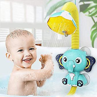 Baby bath shower head elephant water pump and trunk spout rinser children bathing cai1485