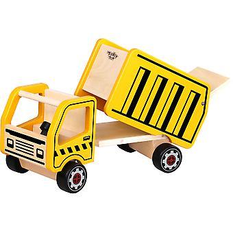 木製ダンプトラックのおもちゃ