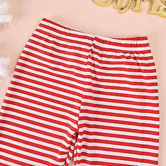 Toddler Baby Girl Vianočné oblečenie Santa Claus šaty Topy + Prúžkované nohavice +Šatka 3pc Jeseň Zimná súprava oblečenia