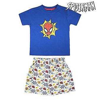 Kesä Pyjama Spiderman Navy sininen Valkoinen