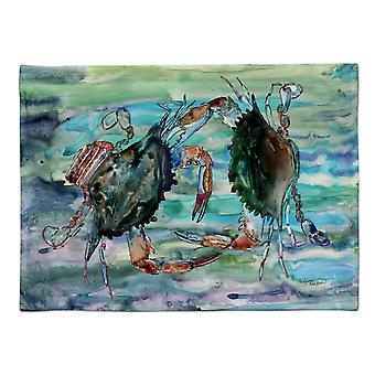 Caroline's Treasures 8954PLMT Verde acqua e granchi viola Tessuto Tovagliette, Multicolor