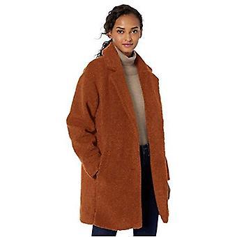 Varumärke - Daily Ritual Kvinnor's Teddy Bear Fleece Kavajslag Coat