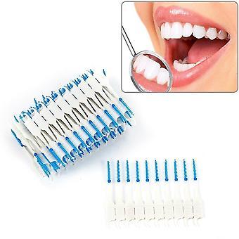 Tandheelkundige dual interdentale borstel tand flossen