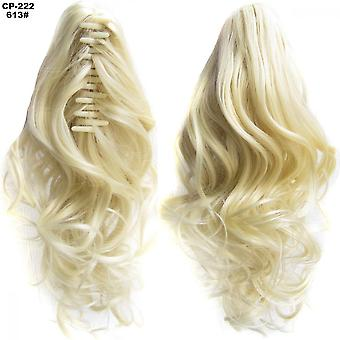 Wavy Curly Hair Claw Clip Ponytail Wig Long Hair Extension