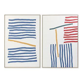 Tavla DKD Home Decor Kanvas Abstrakt (2 pcs) (83 x 4.5 x 123 cm)