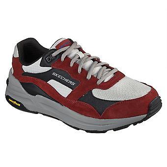 Skechers الرجال العالمية الركض الدانتيل حتى أحذية المدربين