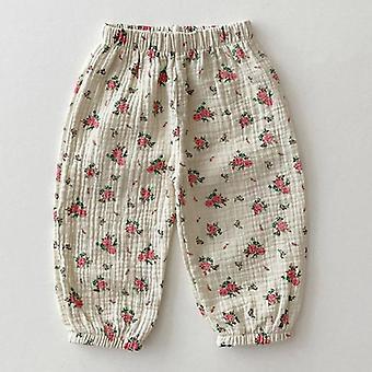 Milancel Baby Pants Pantaloni lino Pantaloni floreali Outerwear per bambini