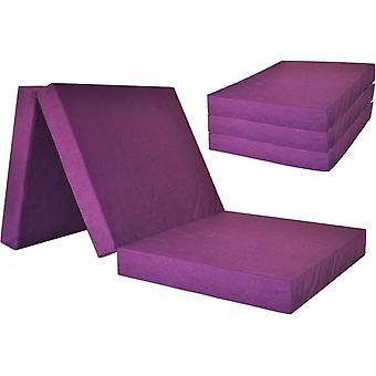 Colchão de hóspedes - violeta - colchão de acampamento - colchão de viagem - colchão dobrável - 195 x 60 x 10