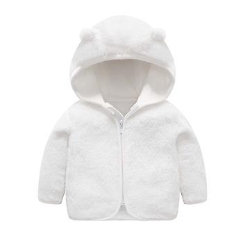 Lasten flanelli vaatteet hupullinen takki, paksu lämmin takki