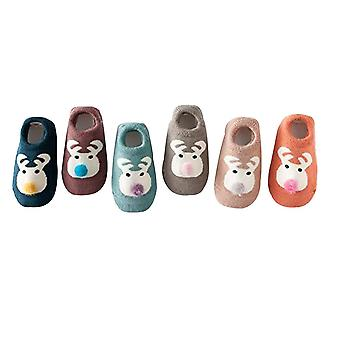 6 Pairs Thick Bottom Baby Shoes Socks Baby 0-3 Years Old Children