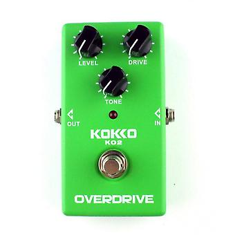 Ko2 Overdrive Electric Guitar Effect Pedal Real Bypass Natural Tube Sound