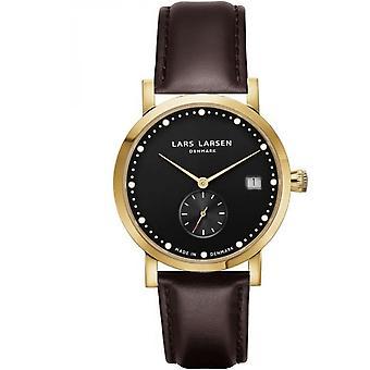 LLarsen (Lars Larsen Brown Genuine Leather) 137GB-BLLG18 Women's Watch