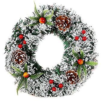 Joulu koti seinä ovi roikkuu Garland Seppele rengas joulujuhla sisustus
