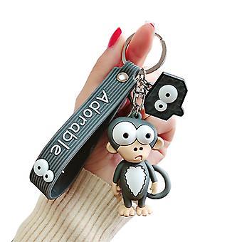 Cartoon Monkey Keychains Cute Silicone Key Chain Lovers Hanging Key Rings