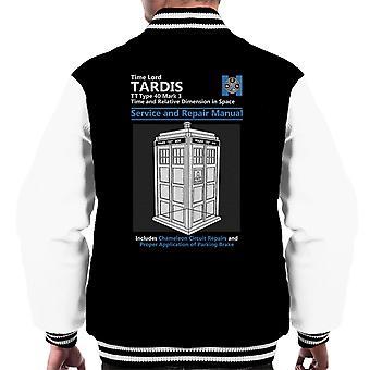 Doctor Who Tardis Service And Repair Manual Men's Varsity Jacket