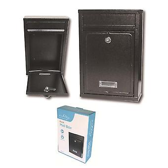 32x22cm grele din oțel impermeabil negru cutie poștală scrisoare post box