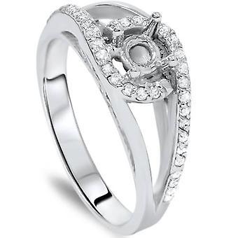 1 / 3ct diamant Fancy forlovelsesring indstilling 14K Mount