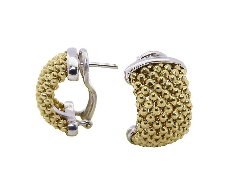 14 carat gold plug earrings
