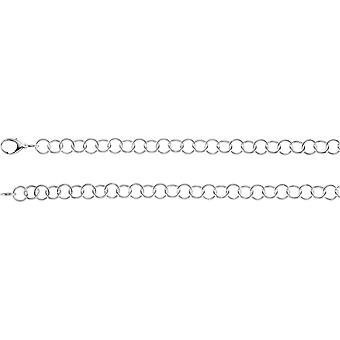 925 Sterling Silver Ring Chain Necklace 18 Inch Size 6 Jewelry Gifts for Women - 31.2 Grams