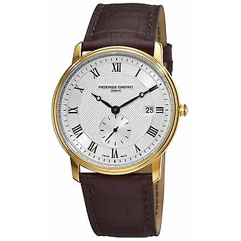Frederique Constant Men's Slimline Swiss Made Gold Plated Case FC-245M5S5 Watch