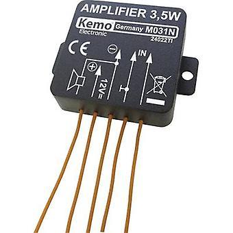 Kemo M031N mono amp komponentti 5 V DC, 6 V DC, 9 V DC, 12 V DC 3,5 W