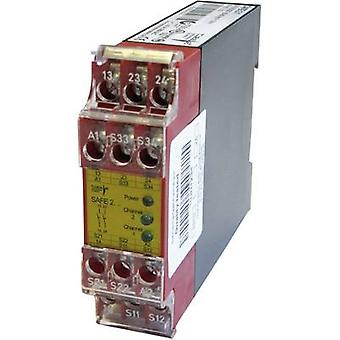 Emergency relay and safety gate monitoring relay Riese SAFE 2 24 V DC/AC Safety relais