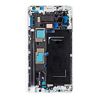 För Samsung Galaxy Note Edge-SM N915F - mitten av ramen med Bezel - vit
