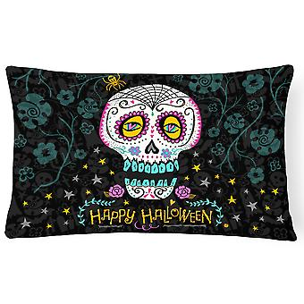 Happy Halloween Day of the Dead Canvas Fabric Decorative Pillow