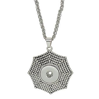 Stainless steel necklace with pendant for click buttons