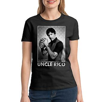 Napoleon Dynamite Uncle Rico Women's Black T-shirt