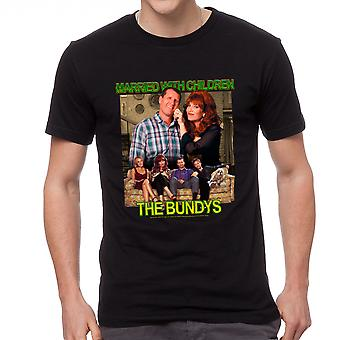 Married With Children The Bundys Men's Black T-shirt