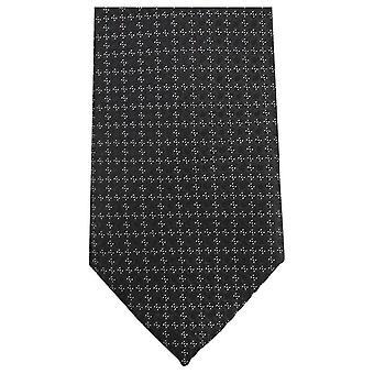 Knightsbridge Neckwear Small Floral Tie - Black