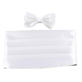 Knightsbridge Neckwear noeud papillon et ceinture drapée Set - blanc