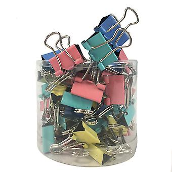TRIXES 60 PC kpl Metal Foldback värillinen Binder Clips 15MM