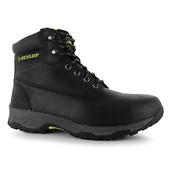 Dunlop Mens säkerhet på webbplatsen stövlar med snörning Mesh olja och halkfria skor