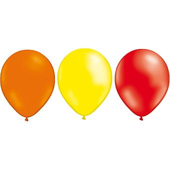 Balloons mix 24-pack Yellow, Orange and Red