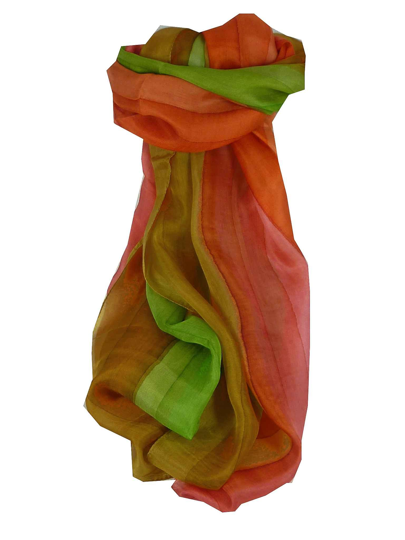 Mulberry Silk Hand Dyed Long Scarf Prasad Rainbow Palette from Pashmina & Silk